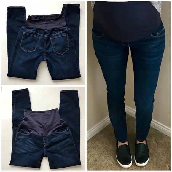 39082d6b744dd Old Navy Jeans | Womens Maternity Full Panel Dark Skinny | Poshmark